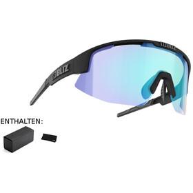 Bliz Matrix M11 Okulary dla wąskich twarzy, matte black/dark grey/jawbone orange/blue multi nordic light